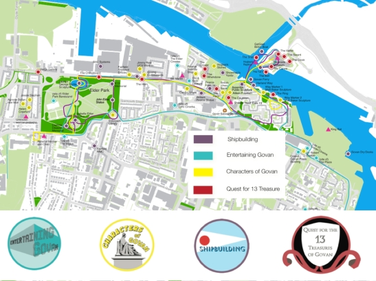 Proposed thematic, 'alternative' heritage trails – researched by the 'Re-imagining the Govan Heritage Trail team' in 2013