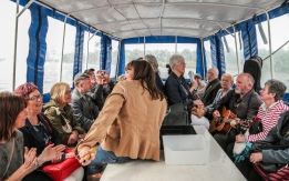 A full boat - all on board to celebrate Strong Women of the Clydeside. Photo by Jean Pierre Saint Martin.