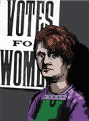 Helen Crawfurd, illustration by Pete Renshaw 2014